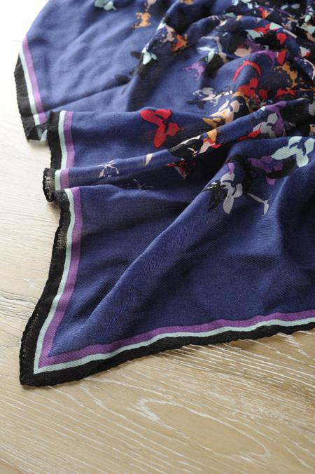 Wool Square Scarf 110*110cm
