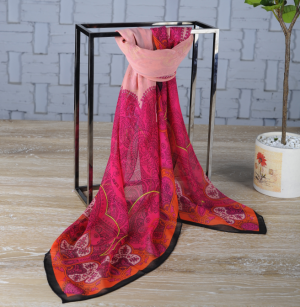 Custom Print Silk Shawl Supplier China
