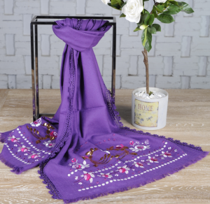 Custom Embroidery Wool Scarves