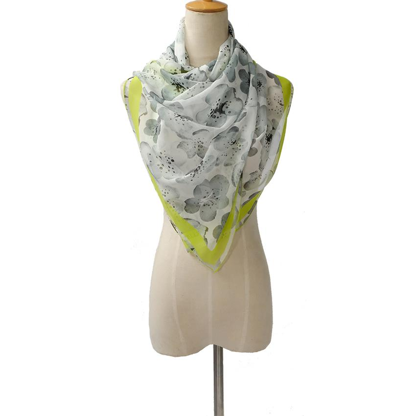 Cherry Blossoms Silk Scarf-4