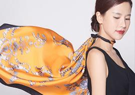 ​Custom Digital Printing 100% Silk Scarf