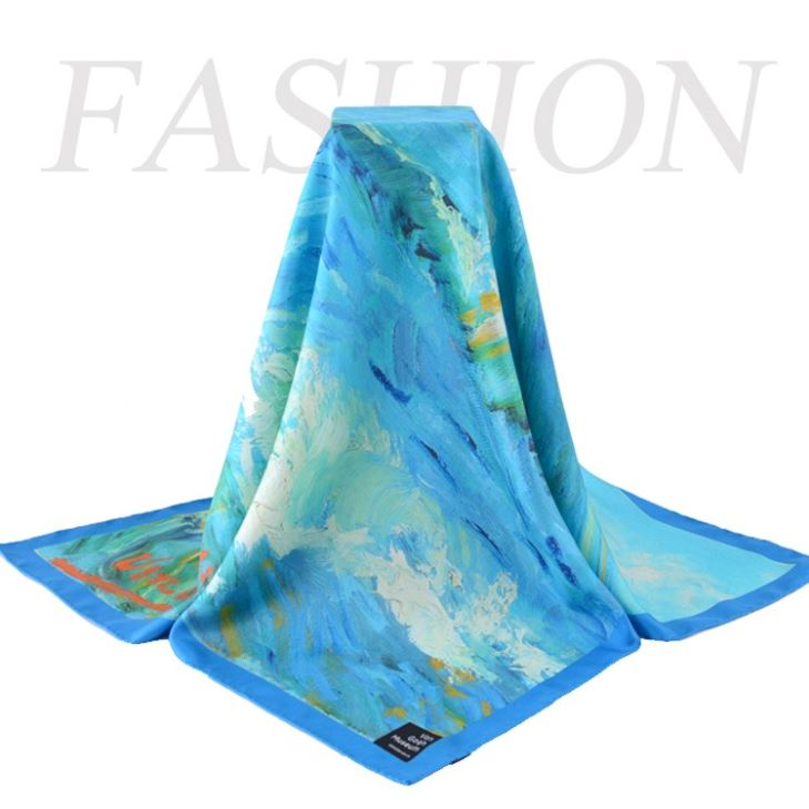 Low MOQ Custom Design Silk Scarf