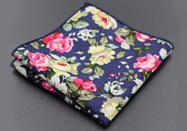 24*24 Paisley Design 100% Cotton Pocket Square