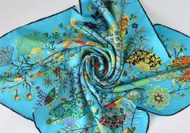 Custom Printed Scarves For Wholesale Pure Silk Scarf Custom Digital Print