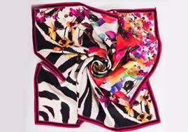 Factory No MOQ Custom Printed Twill Silk Scarves Ladies
