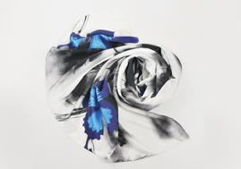 Latest Winter Custom Digital Print Scarf 100% Real Square Silk Scarves