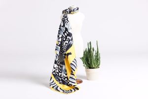 More Popular Geometric Pattern Square Silk Twill Scarf