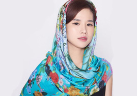 New Arrival Nice Custom Square Silk Chiffon Shawl