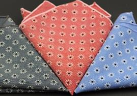 New Design Mulit Color 100% Cotton Pocket Square Scarves