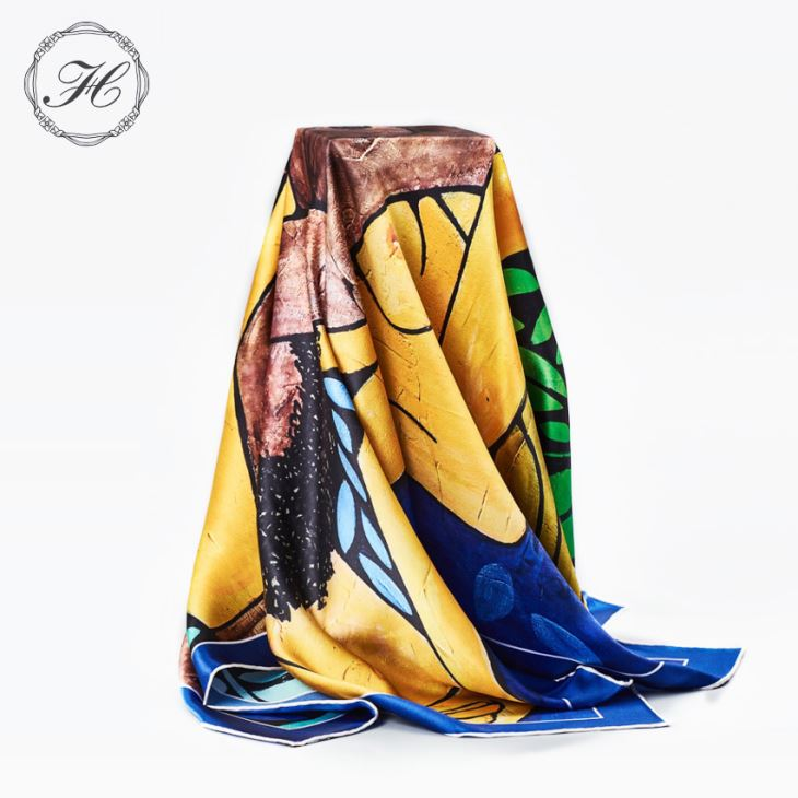 Custom Digital Print Silk Scarves Manufacturer