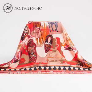 Custom Digital Print Silk Shawl Maker
