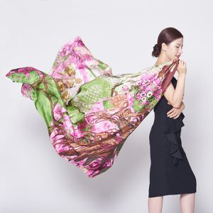 Digital Print Silk Shawl Supplier China