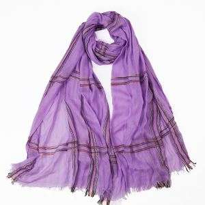 Spring Checked Wool Scarves